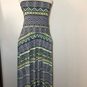 INC boho convertible maxi dress skirt printed L